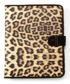 Look what I found on #zulily! Brown Leopard Erin iPad Case by Jessica Simpson Collection #zulilyfinds