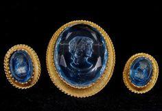 Vintage Demi Parure Faux Intaglio Jewelry Set 35.00 obo. $35.00, via Etsy.