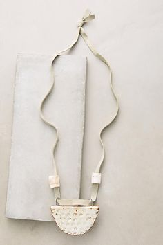 """Skysail Necklace  A handmade suede and ceramic necklace in subdued summer hues, from BZippy & Co.  3.5"""" pendant 30"""" long"""