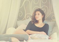 #Ana #brunette #sexy #bed