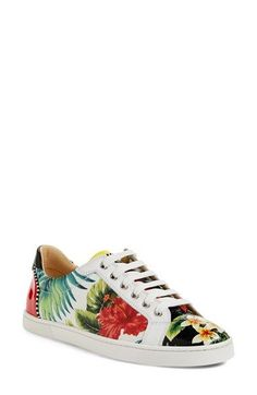 cheap knock off red bottom shoes - Christian Louboutin Seava Hawaii Low-Top Sneaker, Floral | *Neiman ...
