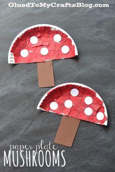 Las setas plato de papel Craft - Kid Más