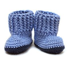 Crochet Blueberry Blue Baby Cuddle Boots  36 by CrayonJungle, $10.00