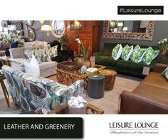 A combination of leather and greenery has never looked so good. Grab your choice of the Somerset Outdoor Furniture Sets, Outdoor Decor, Upholstered Furniture, Somerset, Nevada, Greenery, Table Settings, Cushions, Lounge