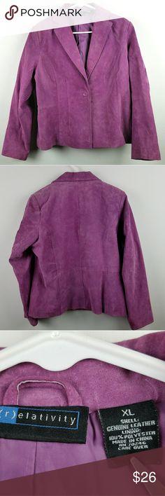 Purple Suede Blazer Sz XL Beautiful suede jacket. Purple/mauve color. Size XL Relativity Jackets & Coats Blazers