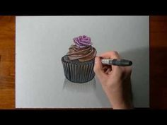 Watch on YouTube how I draw this cupcake :)