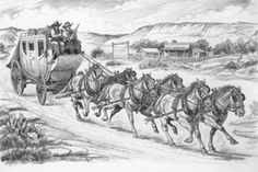 Cowboy Pictures, Cowboy Pics, Wells Fargo Stagecoach, Horse Drawn Wagon, Good Old Times, Old West, Western Art, Pyrography, Art Sketches