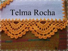 Barrado Crochet Boarders, Crochet Blocks, Crochet Stitches Patterns, Crochet Designs, Knitting Stitches, Stitch Patterns, Crochet Home, Crochet Crafts, Crochet Doilies