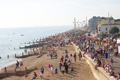 A busy day on the beach, Bognor Regis