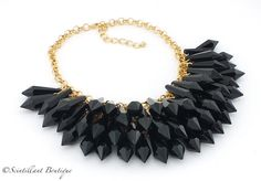 Scintillant Boutique stunning black full crystal necklace available via our facebook page www.facebook.com/Scintillantjewellery