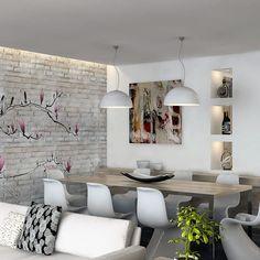 #interiordesign #ideen #interior #möbel #design #solebich #esstisch #inspiration #tisch #furniture #dekoration #germaninteriorbloggers #germany #stuhl #homedecor #lampe #wohn #inspiration #sitzbank #beleuchtung #lampen #eckbank #modernes #kueche #skandinavisch #landhausstil #teppich #bank #ideen landhaus Dining Toom Decor, Dining Room Colors, Dining Room Design, Studio Living, Plaster Walls, Best Dining, Interior Design, Stone, Lighting Ideas Bedroom