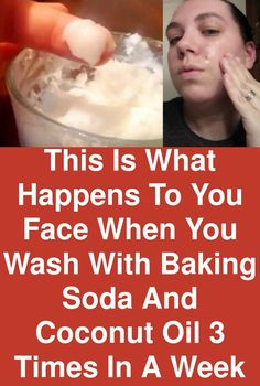 This is what happens to you face when you wash with baking soda and coconut oil 3 times in a week Baking cleanser Coconut face oil Soda times Wash WEEK is part of Baking soda face wash - Coconut Oil Face Cleanser, Coconut Oil For Face, Coconut Oil Facial, Natural Facial Cleanser, Coconut Oil Acne, Coconut Oil Hair Mask, Baking Soda Face Wash, Baking Soda Uses, Baking Soda Coconut Oil