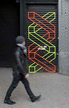 Aakash Nihalani 3D Tape Installations   Trendland: Fashion Blog & Trend Magazine