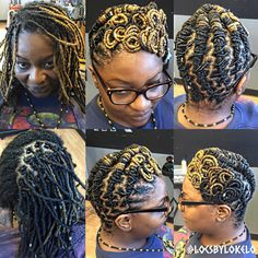"""""""Clipless maintenance ✔️ Signature Swirl! ✔️ LoNaturals used to create this LocArt✔️ Visit www.styleseat.com/locsbylo to get SNATCHED! ⚡️ #locsbylo #Locs…"""""""