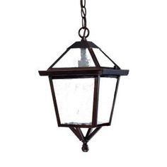 Acclaim Lighting Bay Street Collection 1-Light Hanging Outdoor Architectural Bronze Light Fixture-7616ABZ at The Home Depot