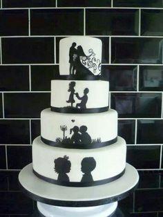 Amazing idea for Wedding Cake