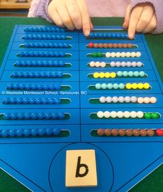 What a clear and interactive way to explore possible number combinations. This is from Nienhuis Montessori / Heutink and is called the Nienhuis Bead Houses.