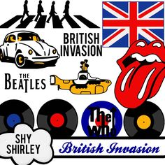 Clip Art of the British Invasion Bands of the 60s