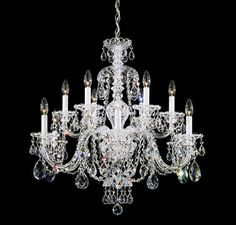 Schonbek Swarovski Lighting Sterling Chandelier, Silver - Nice product and looks to be quality made.This Schonbek that is ranked 818452 in the top most