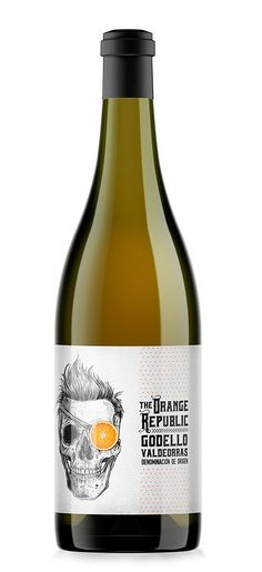 Casa Rojo The Orange Republic Blanco #taninotanino (Wine Bottle Sketch)