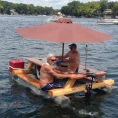 Picnic Boat - Have A Picnic on a Picnic Table Speed Boat Complete with Umbrella ---- hilarious jokes funny pictures walmart humor fails
