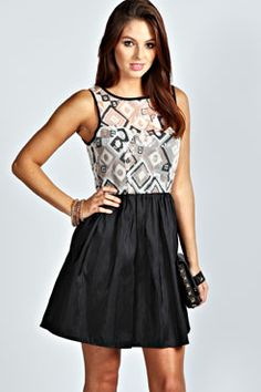 Georgia Geometric Sequin Dress.