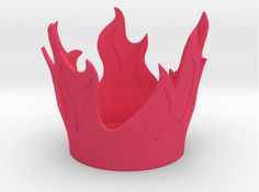 Flame Candle Holder 3d printed Lighting Pink Strong & Flexible Polished