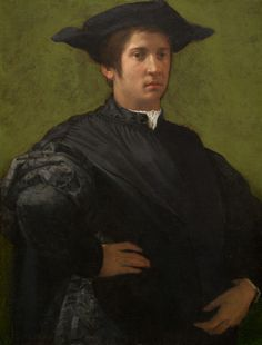 Portrait of a Man by Rosso Florentino.