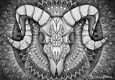 Ram Skull Mandala