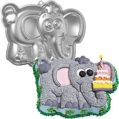 Elephant Cake Pan (each) - Decorations & Party Supplies