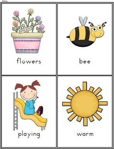 SEASONS AND WEATHER VOCABULARY CARDS - 10 PAGES - TeachersPayTeachers.com