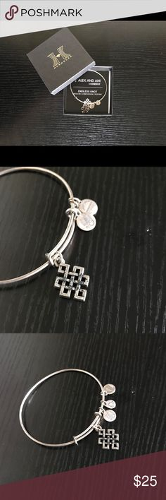 Alex and Ani Endless Knot Bracelet. Alex and Ani Endless Knot Bracelet. Silver.  Wisdom|Compassion|Destiny. Alex and Ani Jewelry Bracelets