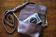 I want to make a simple leather bag for my camera. A trip to Tandy Leather is in order.