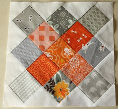 altered nine patch quilt block