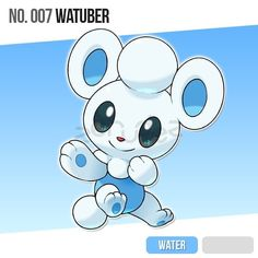 The Water-type starter of the Orohn Division! Pokemon Show, Draw Pokemon, Pokemon Fake, Pokemon Fusion, Cute Pokemon, Cute Monsters Drawings, Cute Drawings, Monster Drawing, Water Type