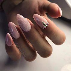 Wedding Nails Home Manicure Manicure Nail Designs, Classy Nail Designs, Manicure E Pedicure, Nail Art Designs, Love Nails, Pink Nails, Nagel Bling, Nagellack Design, Super Nails