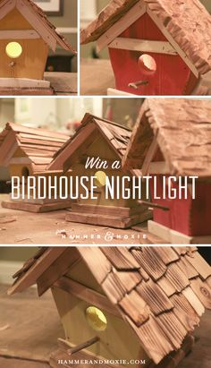 These guys are giving away handmade birdhouse nightlights. They'd be perfect for a nursery, kid's room, or adding a rustic touch to just about any room.