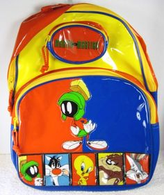 Looney Tunes MARVIN the MARTIAN Colorful Vinyl Backpack   eBay