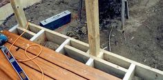 Installing a rail post where a joist interferes with the rail posts position.
