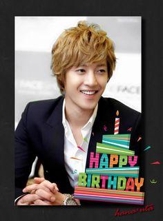 ┏┓┏┓。・゚゚・。。゚♡ ┃┗┛ appy♡ ┃┏┓┃ birth✿ ┗┛┗┛ day*゚✾ Kim Hyun joong♥ #HAPPY30thKHJ #HappyHyunJoongDay