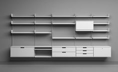 Universal Shelving System by Dieter Rams for Vitsoe. Starts at $1000.