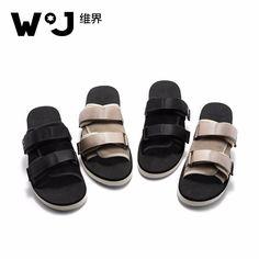 efcb3abec0917a Men s Sandals · WJ Summer Casual Men Cow Suede Cotton Weave Slippers Soft  Thick Rubber Sole Slippers Black Khaki