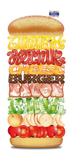 Typography burger.