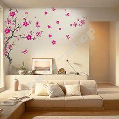 Cherry Blossom Flower Mural Wall Sticker Decal Decor On Ebay Stickers World Map