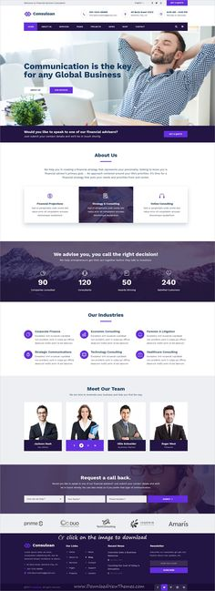 Consuloan is clean and modern design PSD template for #corporate consulting and professional services #website with 8 homepage layouts and 40 layered PSD pages to download click on image.