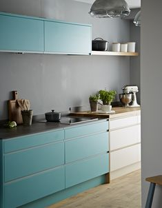 Compliment greys with bright colours - Pure kitchen from John Lewis of Hungerford. http://www.john-lewis.co.uk/kitchens/contemporary-pure-kitchen