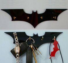 Batman Key Rack / Jewellery Organiser from on Etsy. Saved to home things. Batman Room, Im Batman, Batman Stuff, Superhero Room, 3d Cnc, Key Rack, Batcave, Geek Stuff, Diy Projects