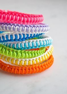 Super Easy Friendship Bracelets via PurlSoho.com