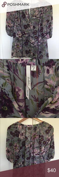 Bellatrix Purple Flower Top Bellatrix Purple & Grey Top with Flowers. Size Small. Non-smoking home. bellatrix Tops Blouses
