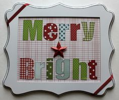 A simple Christmas Frame by Samantha Taylor - and you don't even need Christmas paper to make it! (supplies found at awdml.com)